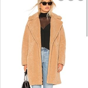 KENDALL + KYLIE Beige Long Teddy Coat